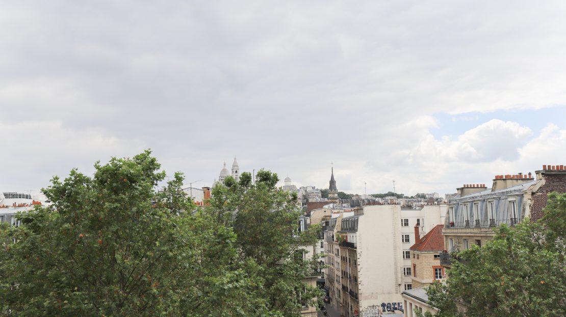Paris 18e - Dernier étage avec vue Sacré Coeur